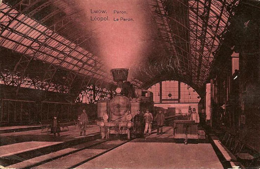 Львовский вокзал - вид перрона