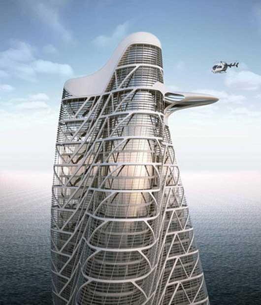 Strata Tower - перекрученный небоскреб